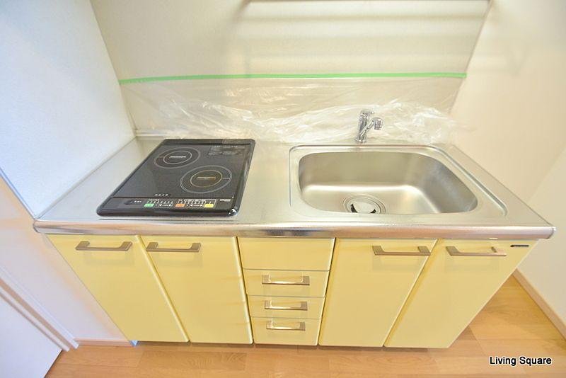 IH2口コンロのキッチンになります。