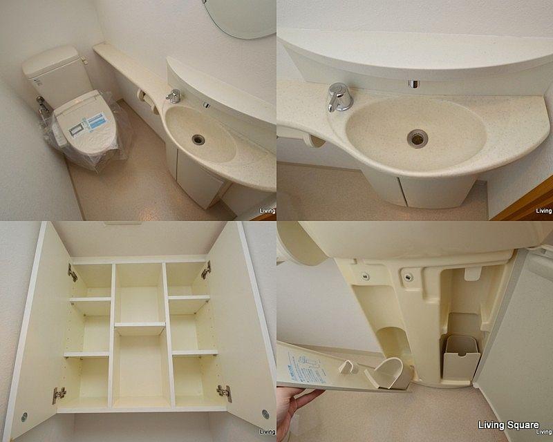 広々トイレ!収納も充実